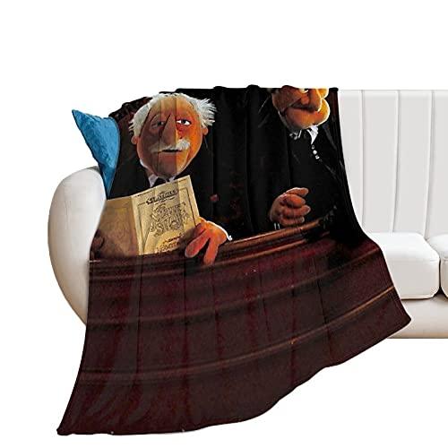 Statler And Waldorf - Mantas de microfibra ultrasuaves para el hogar, sofá, cama, sofá, acogedoras y ligeras para todas las estaciones de regalo, manta impresa en 3D para niños y adultos de