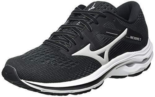 Mizuno Wave Inspire 17, Zapatillas para Correr Mujer, Darkshadow Lunarrock Negro, 37 EU