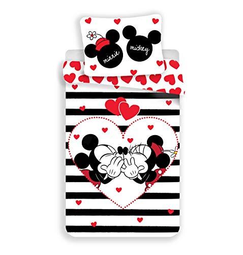 Disney Minnie e Mickey Stripes Parure da letto – Copripiumino in cotone