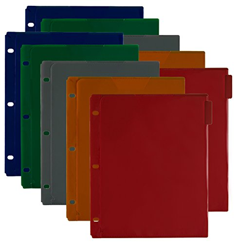 """Five Star Flex NoteProtector Dividers for Flex NoteBinder, 5 Tab Dividers, 11-1/2"""" x 9-3/4"""", Assorted Colors, 2 Pack (38066)"""