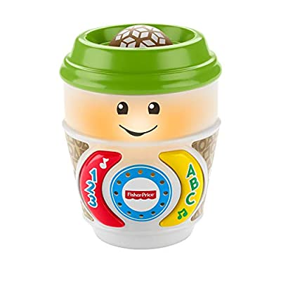 Fisher-Price GHJ04 Laugh & Learn On-The-Glow Coffee Cup, Interactive Baby Toy, Multicolour by Mattel