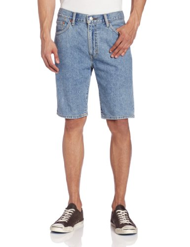Levi's Men's 505 Regular Fit Short, Light Stonewash, 44