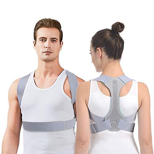 Haltungskorrektur HOPAI Geradehalter zur Haltungskorrektur Rückentrainer Schulter Rückenstütze, Schultergurt gegen Nacken -und Schulterschmerzen für gerader Rücken für Damen Herren (M: 70-85 cm)