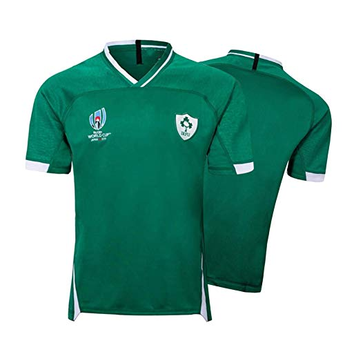 Rugby Trikot 2019 Japanische Weltmeisterschaft Irish Football Polo Shirt, Irish Soccer Training T-Shirt, Atmungsaktive Wettkampftrikots Green-XL