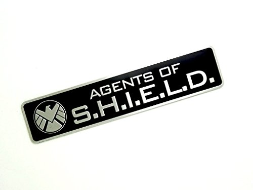 Agents Of Shield Metall Cosplay Auto Aufkleber Abzeichen Fan Decal (Schwarz)