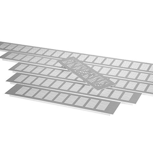 Exklusives Aluminium Lüftungsgitter Belüftungsgitter Belüftung Lüftungsblech ALU (Länge: 100cm)