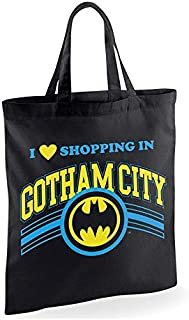 Batman Shopping In Gotham Tote Bag