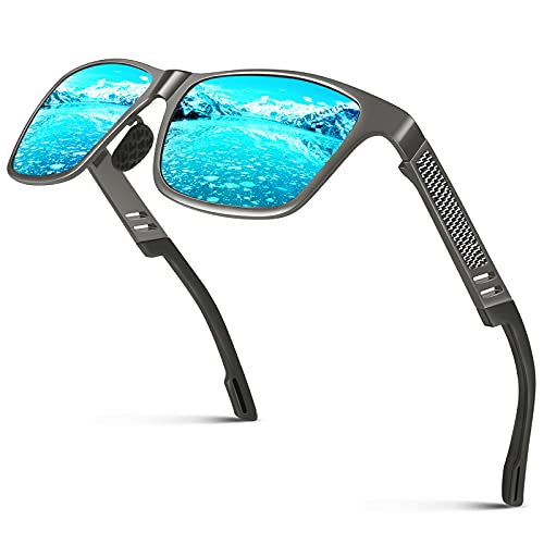 CGID GD60 Occhiali da Sole Classici Lega Al-Mg Stile Lenti Polarizzate UV400,Occhiali da Sole...