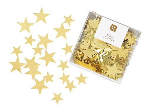 Talking Tables Decorazioni da tavolo a forma di stella dorata, per feste di compleanno, baby shower, matrimoni, Natale, LUXE-SCATTER-STAR