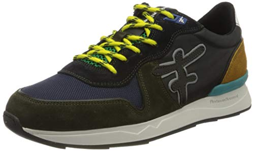 Floris van Bommel Herren 16284/29 Sneaker, Grün (Dark Green Suede Combi 29), 39 EU