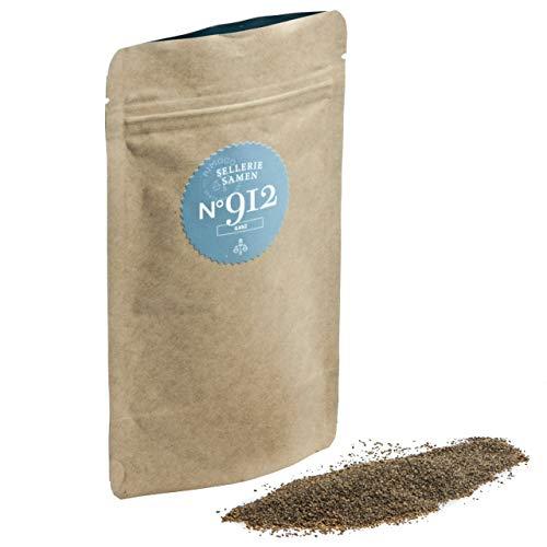Bio Selleriesamen N°912 - ganz, kräftig, würzig & feinherb, im praktischen Kraftpapier Zip-Beutel, Inhalt: 65g