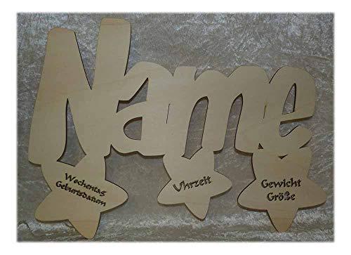 Schlummerlicht24 Led Wand Lampe Taufstern Geschenke mit Namen als Taufgeschenk Kommunionsgeschenk Geburtstagsgeschenk Junge Mädchen Kinder Baby Geburt Taufe