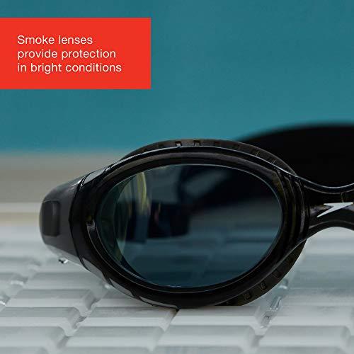 Speedo Adult Unisex Futura Biofuse Flexiseal Dual Swimming Goggles, Cool Grey/Black/Smoke, One Size