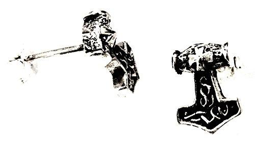 Nº 29: Thor Martillo Pendientes de plata de ley 925