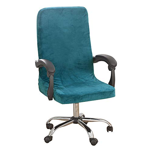 NIBESSER Office Chair Cover,Cover for Chair Office Elastic Stretcha Computer Chair Cover Velvet Printed Washable Removale Desk Chair Protector Chair Cover for Office Living Room,L/M