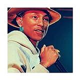 Pharrell Williams (10) Leinwand-Poster Schlafzimmer Dekor