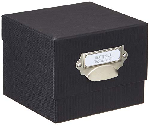 Rössler 1325452700 - S.O.H.O. Foto-Aufbewahrung- Sammelkiste, mit beschriftbarem Einsteckschild, schwarz