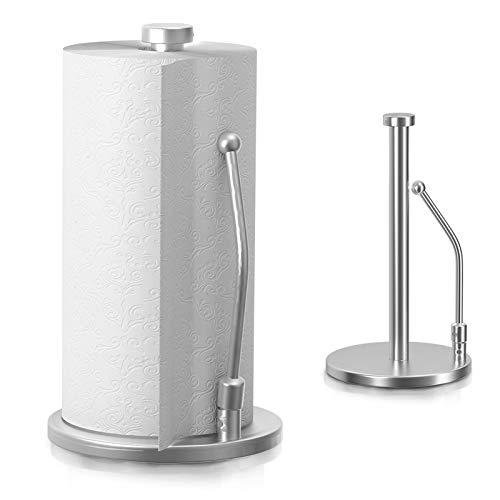 Portarrollos de Papel de Cocina de Acero Inoxidable Soporte para Papel de Metal Porta Rollo Soporte para Toallas de Papel