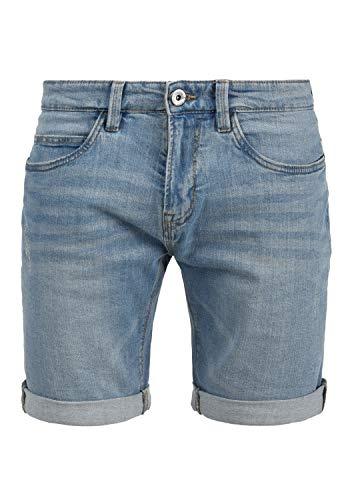 Indicode Quentin Herren Jeans Shorts Kurze Denim Hose Mit Destroyed-Optik Aus Stretch-Material Regular Fit, Größe:XL, Farbe:Blue Wash (1014)