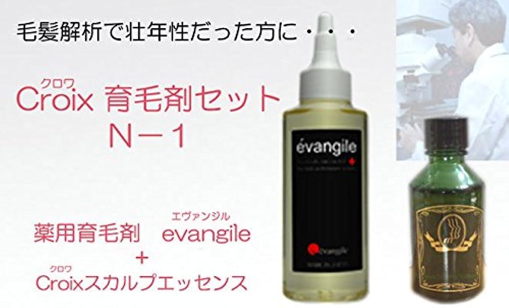 愛情深いキャンペーンエスカレーターCroixスカルプエッセンスN-1セット Croix育毛剤セットN-1(1ヶ月分)