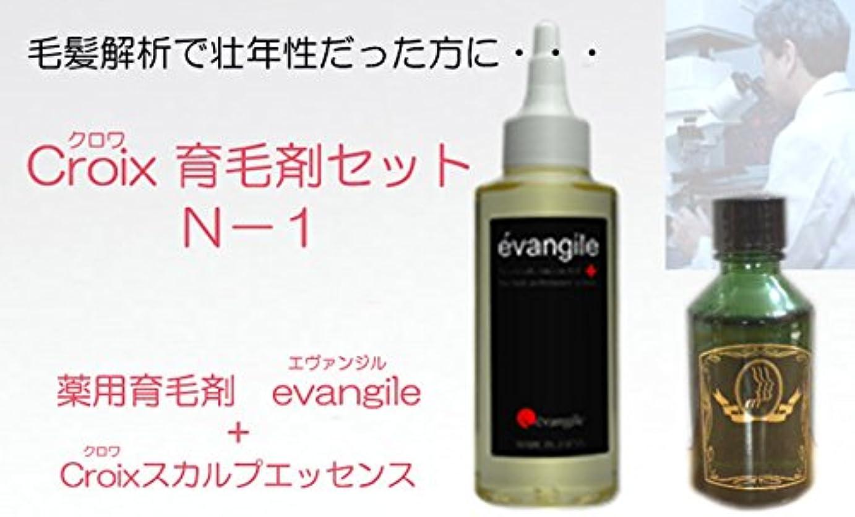 熱意パンチ有能なCroixスカルプエッセンスN-1セット Croix育毛剤セットN-1(1ヶ月分)