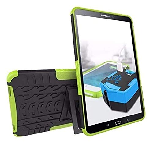 WSGYX Tab Accessories for Samsung Galaxy Tab a 10.1 T515/T510 SM T580 T585, Silicon TPU+PC Shell Shockproof Stand Cover+pen for Galaxy TabA 10.1 (Color : Green, Size : Tab A 10.1 T515 T510)