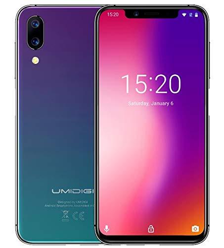 "UMIDIGI ONE PRO Versión Global - móviles libres, 5.9 "" Pantalla Completa de Notch (relación 19: 9), diseño súper delgado, Android 8.1, P23 Octa Core 2.0GHz 4GB + 64GB - crepuscular degradado"