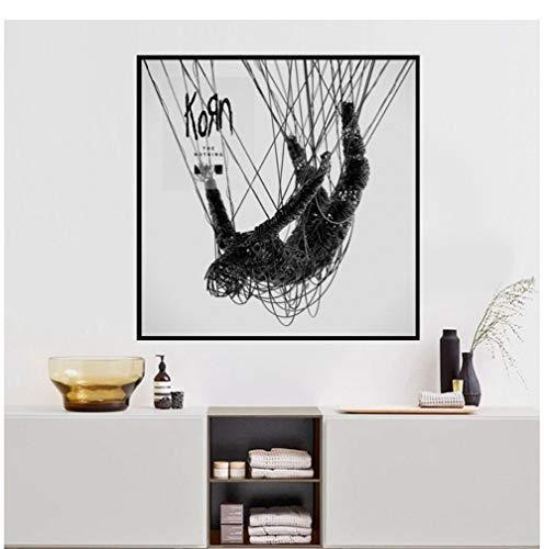 XuFan Korn - The Nothing Album Music Cover Poster Wall Art Wall Picture Canvas Printing Home Decor Canvas Print-24X24 Inch No Frame