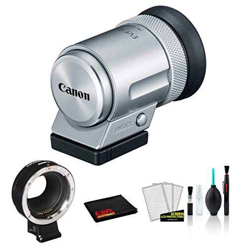 Canon EVF-DC2 Electronic Viewfinder (Silver) 1882C001 Bundled with Lens Adapter Kit for Canon EF/EF-S Lenses