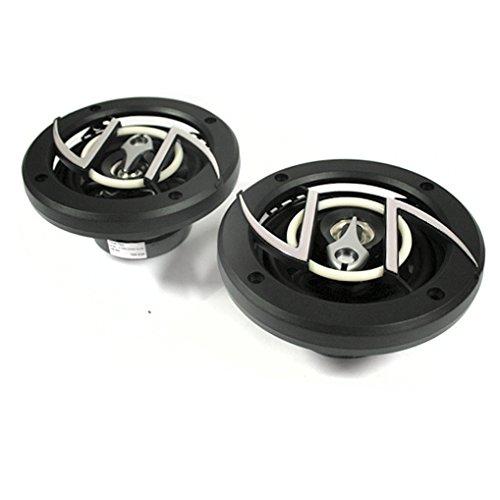 auna CS-408-2-Wege-Boxen, Auto Lautsprecher, Car HiFi Boxen, Einbau-Lautsprecher, 200 W max. Leistung, 19 mm Hochleistungs-Tweeter, 93 dB Schalldruck, schwarz-Silber