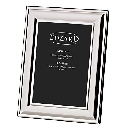 EDZARD Fotorahmen Bilderahmen Sunset für Foto 9 x 13 cm, edel versilbert, anlaufgeschützt