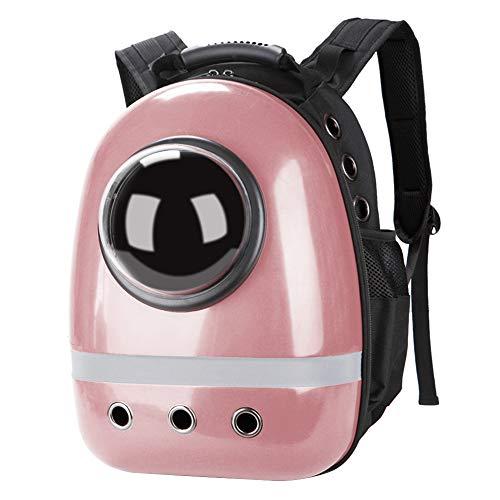 Macallen Mochila Portátil para Cápsula con Soporte para Mascotas Bolsa de Transporte de Burbujas Transparente para Gato Cachorro de Perro Pequeños Animales - Oro Rosa