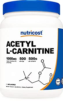Nutricost Acetyl L-Carnitine  ALCAR  500 Grams - 1000mg Per Serving - High Quality Pure Acetyl L-Carnitine Powder
