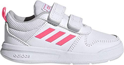adidas Unisex Baby Tensaur I Sneaker, FTWWHT/REAPNK/FTWWHT, 24 EU