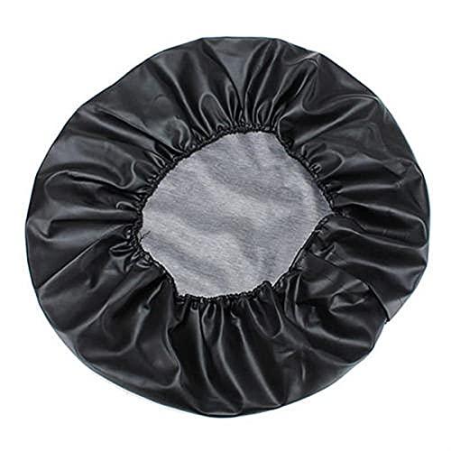 Funda Protectora Para NeumáTicos,Fundas De Rueda 1 unids Pure Black PU Cubierta de la válvula de la rueda de la rueda del neumático de la PU Ajuste para Suzuki 14'15' 16'17' 17'pulgada para el auto
