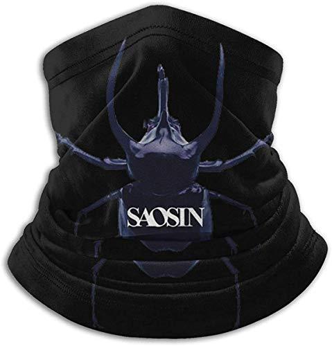 Saosin Unisex Fashion Face Bandanas Head Band Wears Scarf Face Tube Neck Scarf Nero Taglia unica
