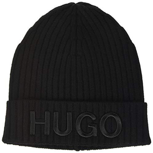 HUGO Damen Unisex X 565-2 Winter Mütze, Black1, ONESI