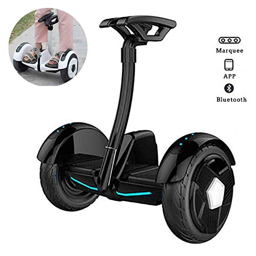 """LMM Electric Scooter,Self Balancing Scooter 10"""" Two Wheel Smart Self Balance Scooter 700W Motor with Led Flash Wheels, Built in Bluetooth Speakers Best Gifts for Kids,White,White (Color : Black)"""