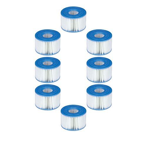 WWYX Cartucho de filtro tipo S1, cartuchos de piscina para tipo S1, cartuchos para filtro de jacuzzi, filtro de piscina para jardín y exterior (8 unidades)