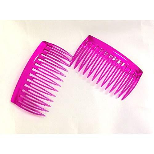 The Home Fusion Company Peigne à Cheveux latéral Noir/Marron/Rose 2 X Small Pink