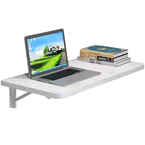 Escritorio de madera con hojas abatibles, mesa montada en la pared, multifuncional, plegable, montado en la pared, compartimentos de escritorio para computadora portátil para el hogar, oficina