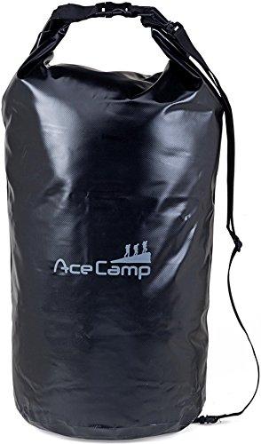 AceCamp - Sac à dos étanche flottant avec sangle de transport, Noir , 20 l