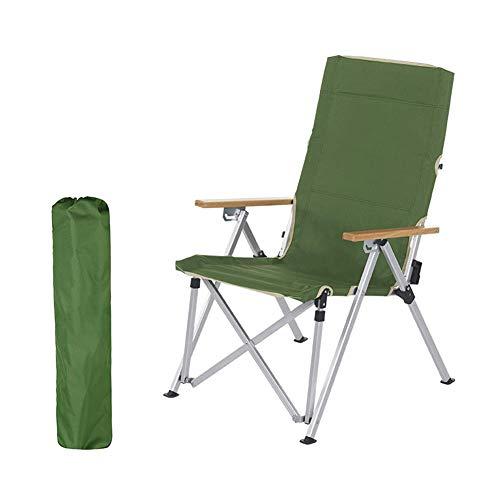 Silla reclinable plegable reclinable con portavasos, mesa auxiliar desmontable y bolsa de transporte, adecuada para exteriores 12-green