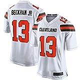 ERERT T-shirt de football américain personnalisé Odell Cleveland NO.13 blanc, Beckham Jr Browns Game Jersey à séchage rapide pour homme