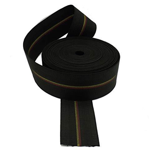 Cincha elástica calidad extra de caucho para tapicería ancho de 80 mm. para asientos, 24 metros.