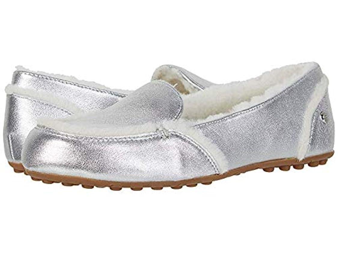 ボーナスディスカウントゲストレディースローファー?靴 Hailey Silver (25.5cm) B - Medium [並行輸入品]