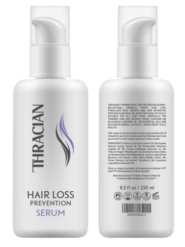Thracian Serum Natural para Prevención de Pérdida de Pelo para Mujer, Fórmula Espesante con Aceites de Lavanda Búlgara Bio y Argán Bio – 250 ml/8.5 fl oz