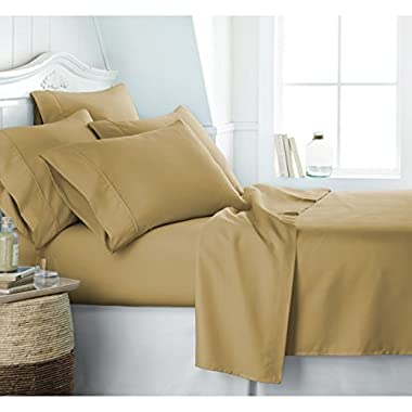 Egyptian Luxury 1800 Hotel Collection Bed Sheet Set - Deep Pockets, Wrinkle and Fade Resistant, Hypoallergenic Sheet and Pillow Case Set - (Queen, Camel)
