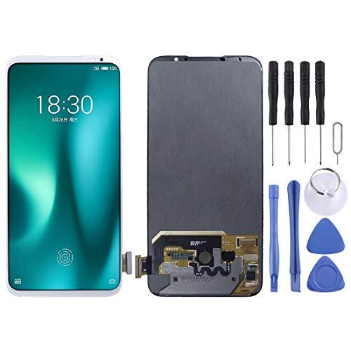 ASAMOAH Pieza de reemplazo del teléfono Celular Pantalla LCD y digitalizador Asamblea Completa for Meizu 16S Pro Accesorios telefonicos (Color : Blanco)