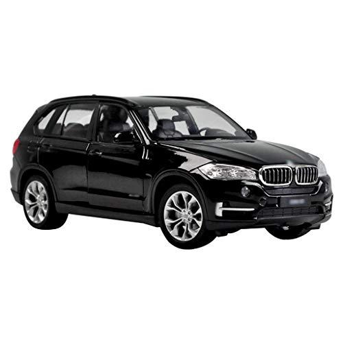 Scale 1:24 Die-cast Car Model/Compatible with BMW X5 / Static Car Model SUV Car Model Simulation Alloy Model (Color : Black, Size : 19.8cm7.8cm7.5cm)